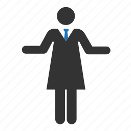 businesswoman, manager, office, people, person, user, woman icon