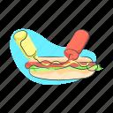 activity, food, hotdog, meal icon