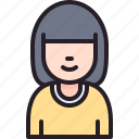 account, avatar, people, user, woman icon