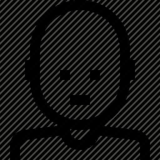 avatar, bald, man, people icon