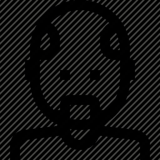 avatar, bald, male, man icon
