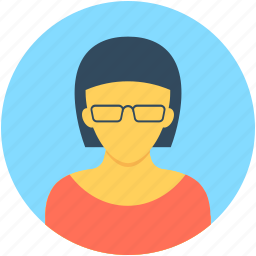 female teacher, girl, receptionist, teacher, tutor avatar icon
