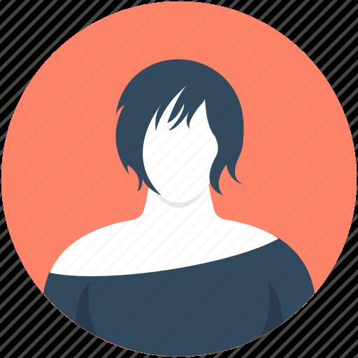english woman, female, girl, person, profile icon
