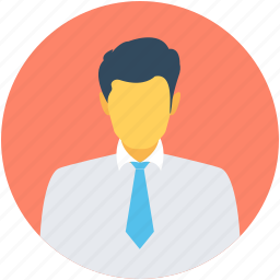 accountant, business person, male avatar, manager, officer icon