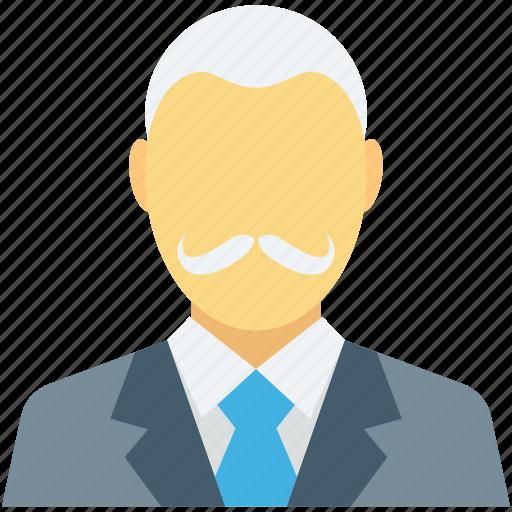 business man, human, male, senior citizen, user icon