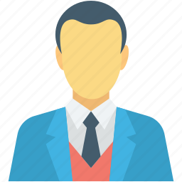 accountant, banker, businessman, male avatar, manager icon