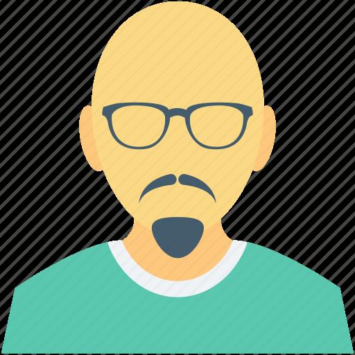 bald man, business man, male, male avatar, senior citizen icon