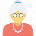 lady, nany, old age, old woman, woman icon