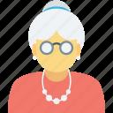 lady, nany, old age, old woman, woman