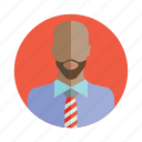 avatar, bald, beard, business man, people, person, user icon