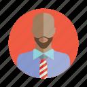 avatar, bald, beard, business man, people, person, user