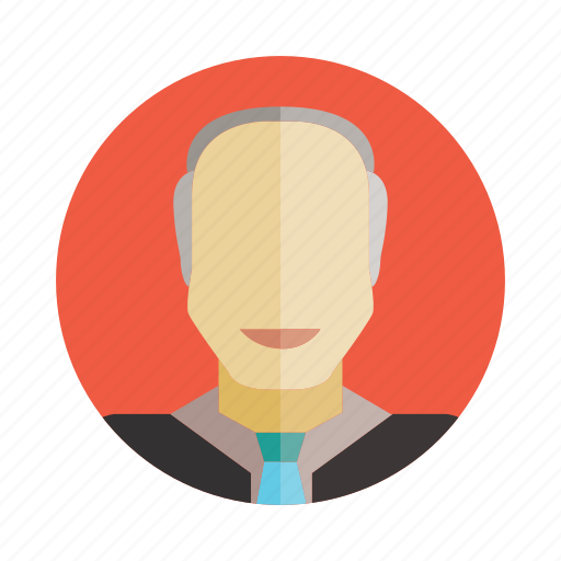 avatar, business man, man, old, people, person, user icon