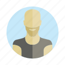 avatar, bald, beard, human, people, person, user icon