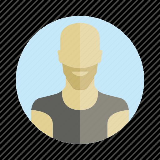avatar, bald, beard, human, people, person, user icon