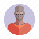 avatar, bald, beard, character, people, person, user icon