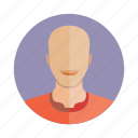 avatar, bald, character, human, people, person, user icon