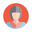 avatar, character, girl, people, person, user, woman icon