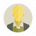 avatar, bald, character, man, people, person, user icon