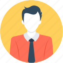 accountant, business person, businessman, male avatar, young boy icon