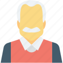 avatar, human, male, old man, senior citizen icon