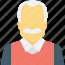 avatar, human, male, old man, senior citizen icon