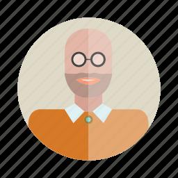 avatar, bald, beard, man, people, person, user icon