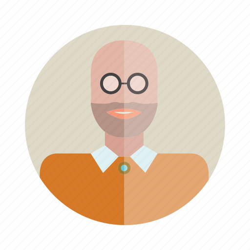 avatar, bald, beard, man, people, person, user icon