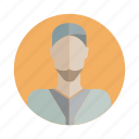avatar, beard, character, human, people, person, user icon