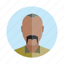 avatar, beard, human, old, people, person, user icon