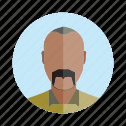 avatar, beard, human, old, people, person, user icon