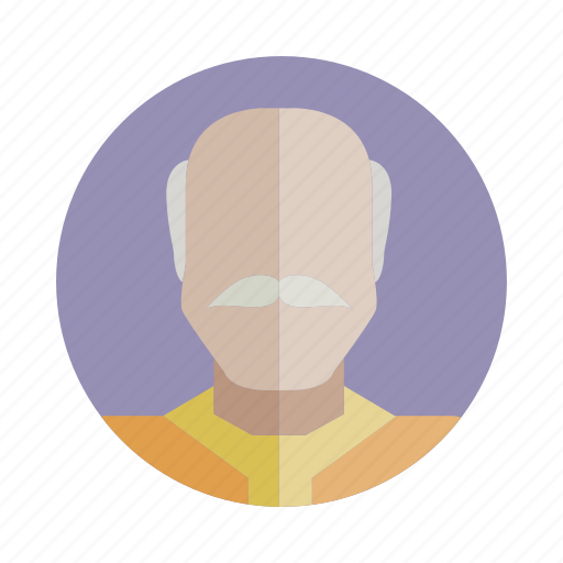 avatar, bald, beard, old, people, person, user icon