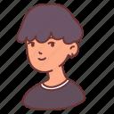 man, male, people, avatar, boy, teenager, ear piercing icon