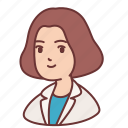 avatar, doctor, executive, female, girl, people, woman