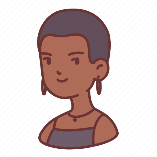 African, avatar, girl, skin head, user, woman, young icon - Download on Iconfinder