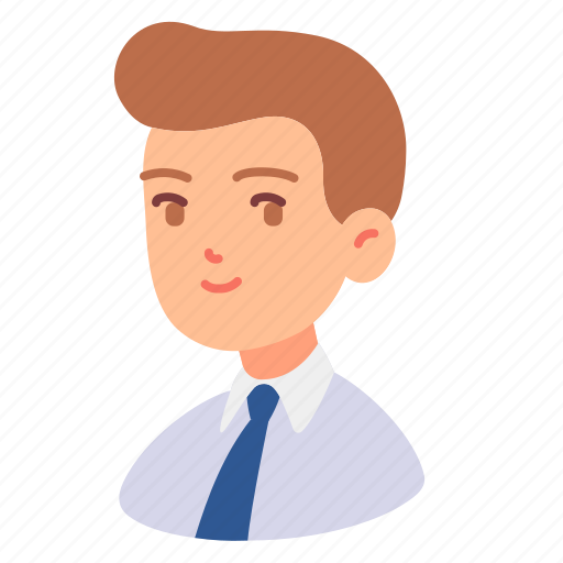 Adult, avatar, employee, male, man, people, tie icon - Download on Iconfinder