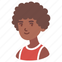 man, teenager, avatar, male, boy, afro, african