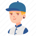 avatar, boy, hat, male, man, people, student icon