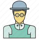 avatar, face, hat, human, people, person, profile icon