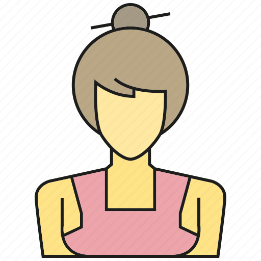 avatar, face, japanese, people, person, profile, woman icon