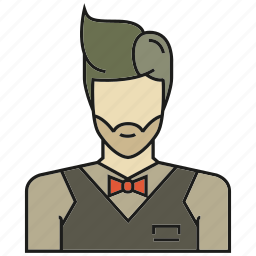 avatar, face, human, people, person, profile, waiter icon