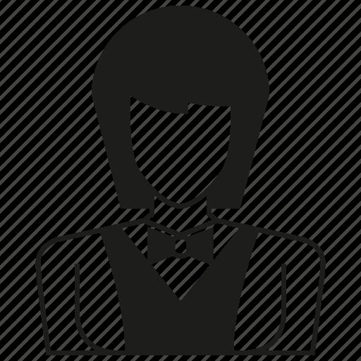 avatar, character, people, profile, uniform, waitress, worker icon