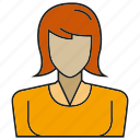 avatar, character, people, person, profile, user, woman icon