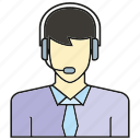 avatar, call center, face, human, operator, people, person icon