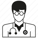 avatar, doctor, people, person, physician, uniform, worker icon
