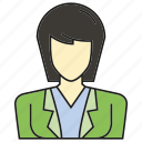 avatar, business woman, face, human, people, person, profile