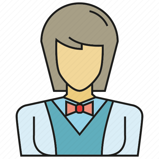 avatar, face, human, people, person, waitress, woman icon