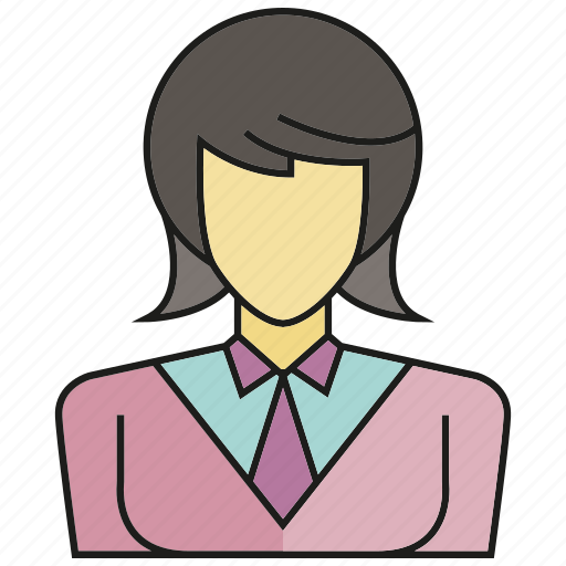 avatar, business woman, face, human, people, person, woman icon