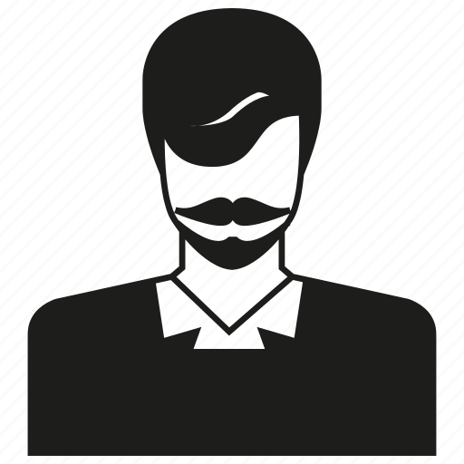 avatar, character, man, moustache, people, person, profile icon