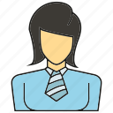 avatar, business woman, face, human, people, person, profile icon