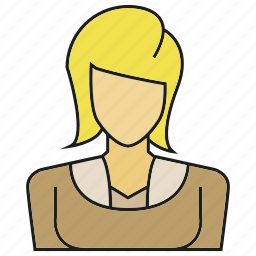 avatar, character, face, people, person, user, woman icon